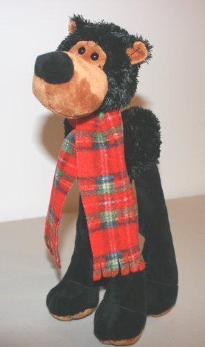 LANKY LEGS STUFFED BLACK BEAR for Toddlers & Children Washable Plush - 1