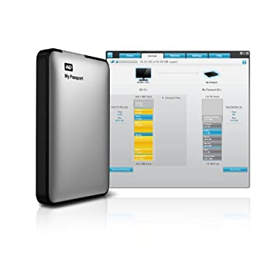 WD My Passport 1TB Portable External Hard Drive Storage (Silver)