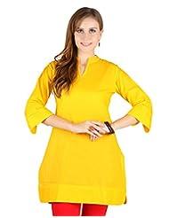 Vastrasutra Yellow Kurti For Women_$P - B00Q2ODPY6