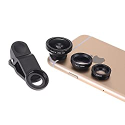 Fish Eye Lens Wide Angle Lens + Macro Lens 3-in-1 Kit for iPad iPhone 4G (Wide Angle Lens and Macro Lens are connected together) + Lenspen NLP-1 Cleaning Brush (Black)