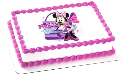 Minnie Mouse Edible Image Cake Topper
