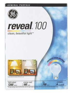 GE 48690-48 100-Watt A19 Reveal Bulbs, 48-Pack
