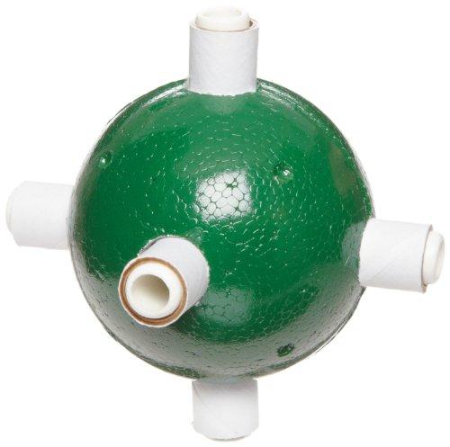 "Molecular Models Green Polystyrene Octahedral Chlorine Atom Center, 2"" Diameter"