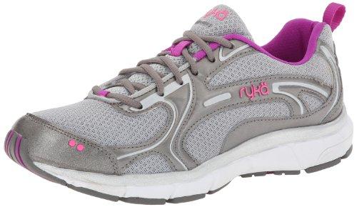 brand new 4cf0e d15d8 RYKA Women s Prodigy 2 Running Shoe Chrome Silver Metallic Steel Grey Sugar  Plum Atomic Pink 8 5 W US