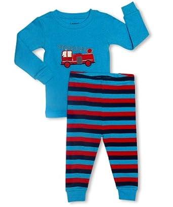 "Leveret Little Boys ""Fire Truck"" 2 Piece Pajama Set 100% Cotton (6M-8 Years) (6-12 Months)"