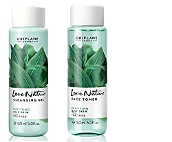 Oriflame Love Nature Cleansing Gel and Face Toner Tea Tree - 150ml each
