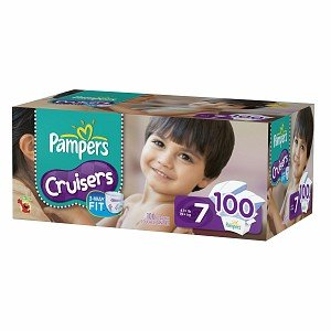 Pampers Cruisers Diapers, Economy Plus Pack, Size 7 100 ct (Quantity of 1)