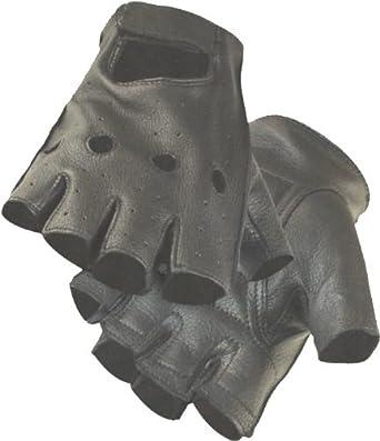 Fingerless Deerskin Motorcycle Glove (Lg)