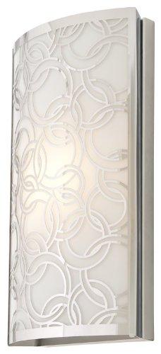 Polished Chrome Finish PLC Lighting 18141 PC 1-Light Wall Fixture Corteo Collection