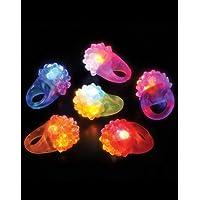 Rhode Island Novelty Flashing LED Bumpy Ring (72-Pack)