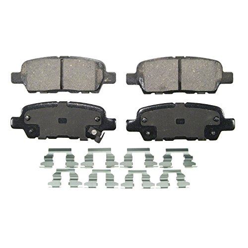 Wagner QuickStop ZD1288 Ceramic Disc Pad Set Includes Pad Installation Hardware, Rear (Wagner Brake Pads And Rotors compare prices)