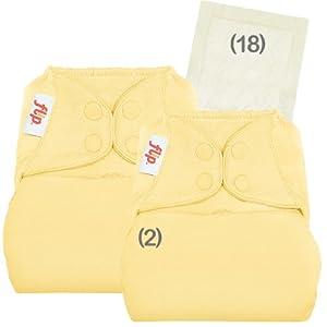 Flip hybrid diaper