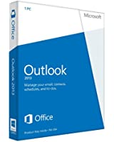 Microsoft Outlook 2013, Licence Card, 1 User (PC)