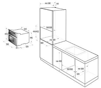 gorenje boc 5322 ax kompakt elektro einbaubackofen mit. Black Bedroom Furniture Sets. Home Design Ideas