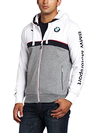 PUMA Men's BMW Hooded Sweat Jacket, White, XX-Large at Amazon Men's