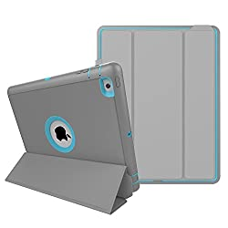 iPad 2/3/4, HEAVY DUTY EXTREME Protection / Rugged Slim Dual Layer Protective Cover With Standing 3 in 1 for iPad 4/3/2 (2015) - Color (Light Blue)