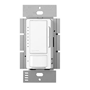 Lutron MSCL-OP153M-WH Maestro CL Single-Pole/Multi-Location Motion Sensor Occupancy Light Switch and Dimmer, White