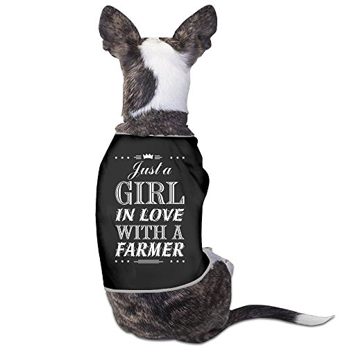 YRROWN Just A Girl In Love With A Farmer Design Puppy Dog Clothes (Devil Be Gone compare prices)