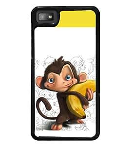 printtech Monkey Banana Back Case Cover for BlackBerry Z10