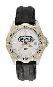 San Antonio Spurs Mens NBA All-Star Watch (Leather Band) by NBA Officially Licensed