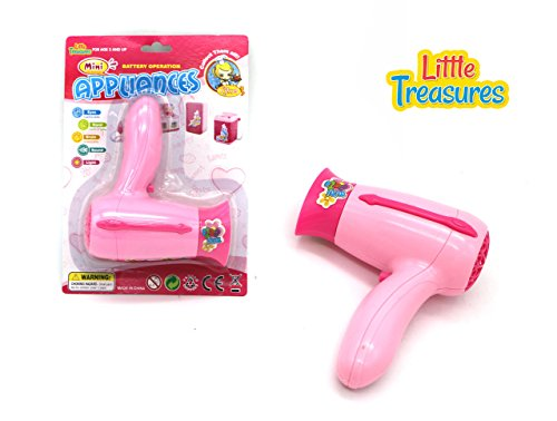 Little Treasures Mini Pretend Play Beauty Salon Fashion Hair Dryer Appliance Toy for Preschooler's (Play Blow Dryer compare prices)