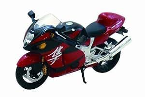スカイネット 1/12 完成品バイク SUZUKI GSX1300R ハヤブサ (レッド)