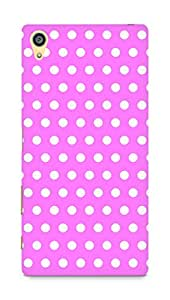 Amez designer printed 3d premium high quality back case cover for Sony Xperia Z5 Plus (Pink Dots Pattern)