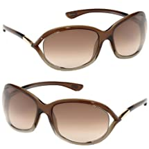Tom Ford 0008 38F Brown Gradient Jennifer Wrap Sunglasses Lens Category 2
