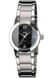 Casio Women's LTP1230D-1C Stainless-Steel Quartz Watch with Black Dial
