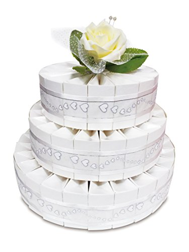 3 Tier Wedding Favor Kit Cake! Includes 66 Favor Boxes!