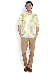 ColorPlus Light Yellow Shirts ( 8907150452944_CMSB25001-Y2_00L_Light Yellow)