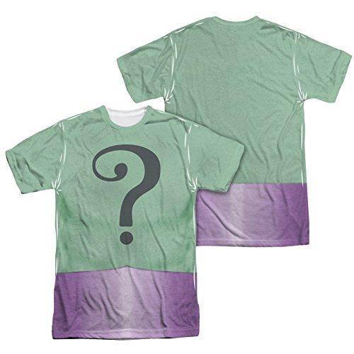 Batman Classic TV Riddler Uniform All Over Front/Back T-Shirt