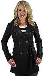 Jessica Simpson Women's Lightweight Belted Trench Coat Jacket