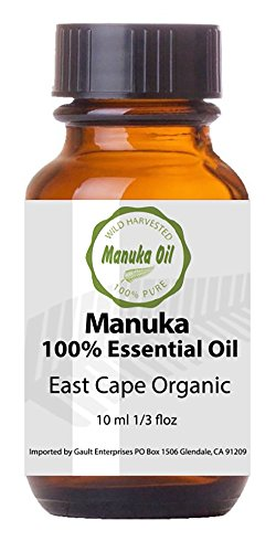 Manuka Oil 100 Natural Anti-Fungal, Antiseptic, Fights Acne, Foot Fungus, Skin, Staph Infections 10x Power of Tea Tree Oil. Pure East Cape Organic Rare Aromatherapy Oil Natures Medicine Cabinet in a Bottle