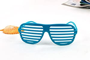 Viskey Shutter Shades Party Style Decorative Glasses, Pack of 2 Pairs Blue