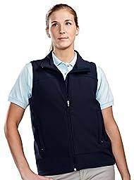 Tri-mountain Womens poly stretch bonded soft shell vest. 6410 - NAVY/NAVY_2XL