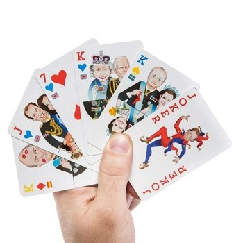 "Royal Family ""Royal Flush"" Playing Cards. 2 Decks Gift Set. Queen, Prince William & Kate, Harry & More!"