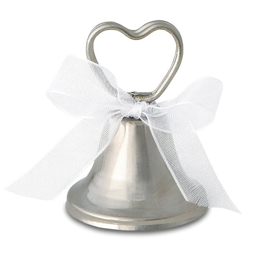 12 Count Silver Bell Place Card Holders