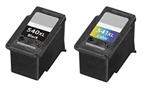PG-540XL & CL-541XL Compatible High Capacity Black and Colour Ink Cartridge Pack for Canon Printers