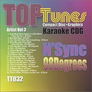NSYNC - Top Tunes Karaoke CDG TT-032 Artist Vol. 3 N Sync & 98 Degrees - Zortam Music