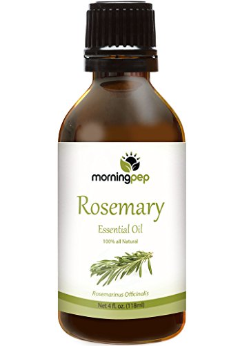 Morning Pep ROSEMARY OIL 4 OZ Large Bottle 100 % Pure And Natural Therapeutic Grade , Undiluted unfiltered and with no fillers, no alcohol or other additives , PREMIUM QUALITY Aromatherapy ROSEMARY Essential oil (118 ML) Happy with Your purchase or Your M