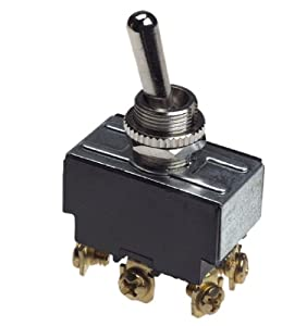 Gardner Bender GSW-16 Heavy Duty Toggle Switch, 20A 125VAC, Double Pole Double Throw, ON-(OFF)-ON, Screw Terminal