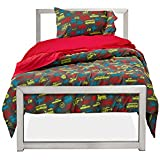 """Amadora's Twin Transportation Luxury Double Brushed Microfiber Duvet Cover Set with Features 100% Money Back Guarantee, Does Not Shrink or Wrinkle and Provides Excellent Temperature Control for Enhanced Comfort.Twin Size Duvet Cover/Comforter : 68"""" L x 86"""" W"""