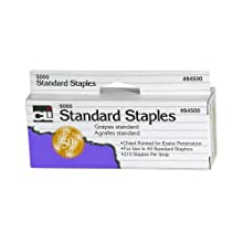 Charles Leonard Inc., Staples, Standard, Chisel Pointed 26/6, Carbon Steel, 5M/Box (84500)