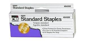 Charles Leonard Inc., Staples, Standard, Chisel Pointed 26/6, Carbon Steel, 5M/Box (84500)