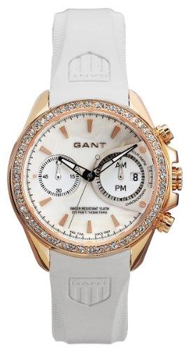 GANT Bedstone W10652 - Reloj de mujer de cuarzo, correa de goma color blanco (con cronómetro)