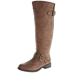 Madden Girl Women's Cactuswc Wide Calf Equestrian Boot