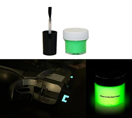 Ultimate Arms Gear Glow in the Dark Paint Super Bright Night Sights 14.5ml (1/2oz) Vial with Brush for Guns, Pistols, Handguns, Shotguns, Rifles, Paintball, Airsoft and Firearms (Green) (Night Glow Paint compare prices)