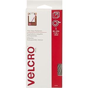 """VELCRO Brand  - Sticky Back  - 5' x 3/4"""" Tape - Clear"""