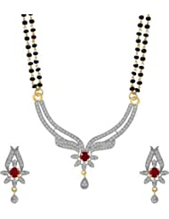 Artificial Jewellery AD Dancing Peacock Design Mangalsutra Set From Sitashi
